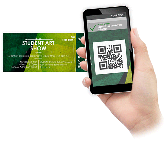 Check-In tickets by scanning bar-codes from your mobile device