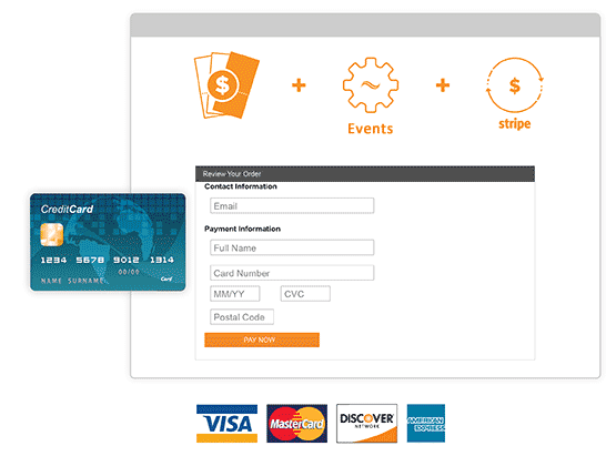 Accept credit card payments