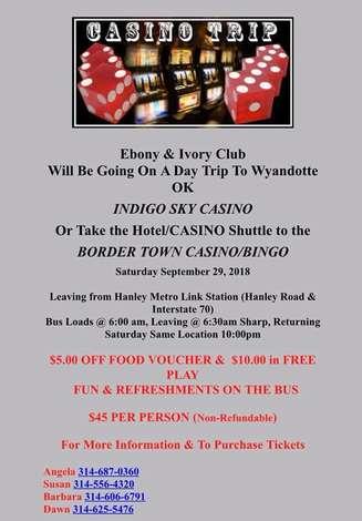 Ebony and Ivory's trip to Indigo Sky Casino: Sat, Sep 29, 2018