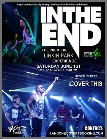 In The End-A Tribute To Linkin Park: Sat, Jun 1, 2019