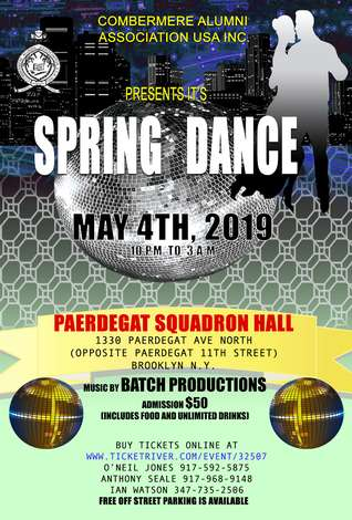 COMBERMERE SPRING DANCE: Sat, May 4, 2019